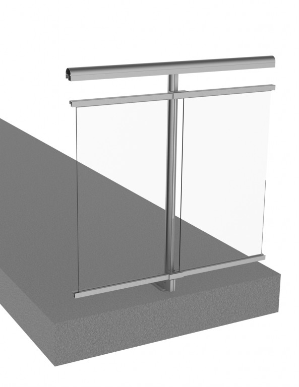Railing system with gap under the handrail - BE298-V