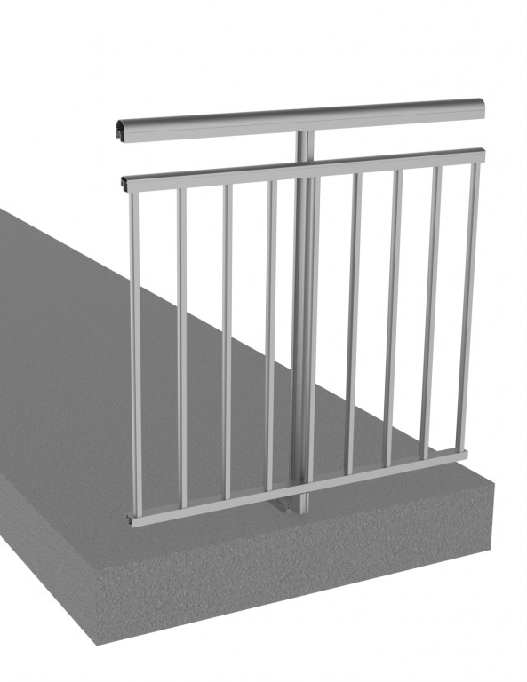 Railing system with gap under the handrail - CL298-V